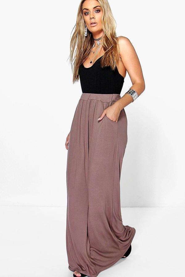 Boohoo Plus Rae Pocket Front Jersey Maxi Skirt ($20)