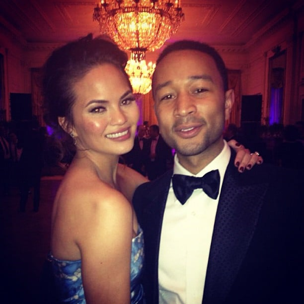 John Legend got close to Chrissy Teigen at The Inaugural Ball on Monday night. Source: Instagram user Chrissy_Teigen