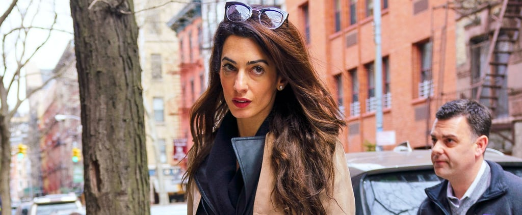 Amal Clooney Alexander Wang Leather Trench Coat