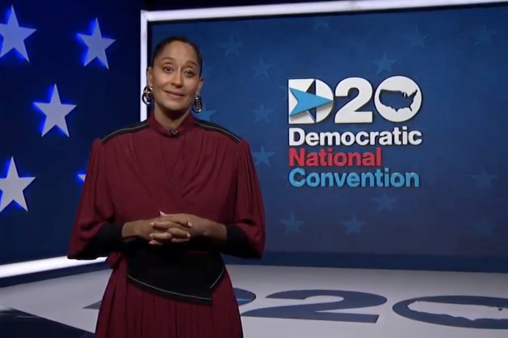 Tracee Ellis Ross's Red Proenza Schouler Dress at the DNC