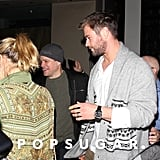 Chris Hemsworth and Matt Damon Double Date in LA Jan. 2017