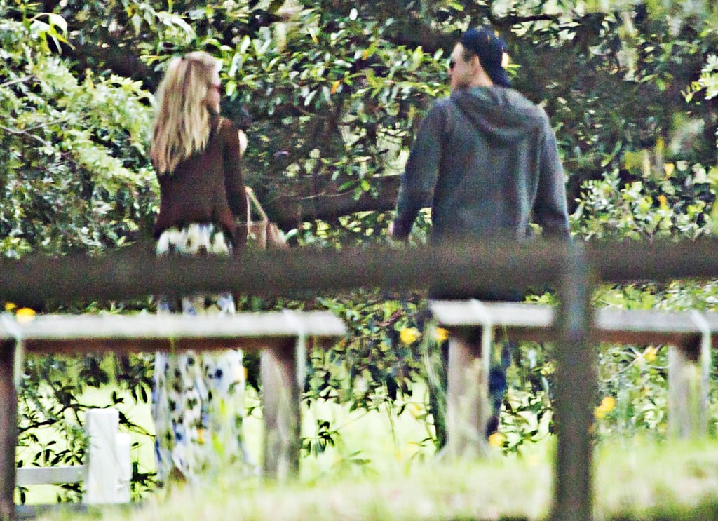 Erin and Leo walked around the grounds of Sydney's Vaucluse House.