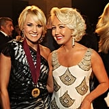 Carrie Underwood and Megan Lindsay posed backstage in Nashville.