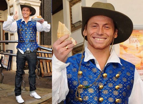 Photos of Joe Swash in Panto Costume as Buttons in Cinderella
