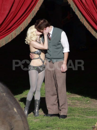 Pictures of Robert Pattinson and Reese Witherspoon Making Out on Set of Water For Elephants