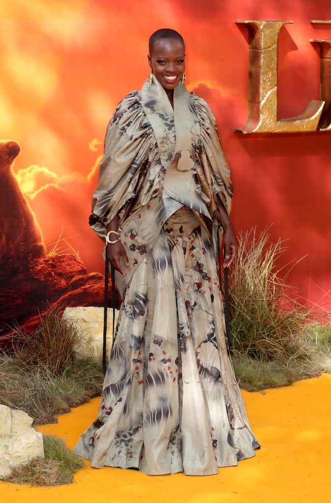 Pictured: Florence Kasumba at The Lion King premiere in London.