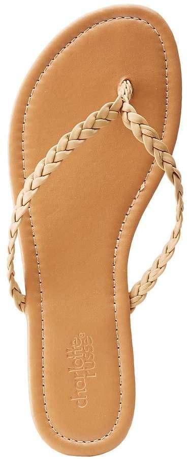 be54db3821af Charlotte Russe Braided Flip Flop Sandals