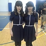 Zooey Deschanel showed off her stunt double from New Girl.  Source: Instagram user zooeydeschanel