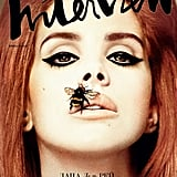 """Karl Lagerfeld recently guest edited the Metro Newspaper, where he weighed in on what he thought of the British singer, saying """"I prefer Adele and Florence Welch. But as a modern singer she is not bad . . . Lana del Rey is not bad at all. She looks very much like a modern-time singer. In her photos she is beautiful."""" Pictured: Interview magazine, February 2012"""