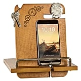 Monogrammed Wooden Docking Station