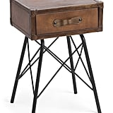 Leather Accent Table
