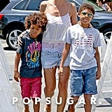 Heidi Klum was out in LA with her sons, Henry and Johan, on Saturday.