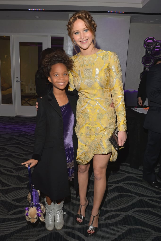 Jennifer Lawrence posed with Quvenzhané Wallis at the Film Critics Association Awards.