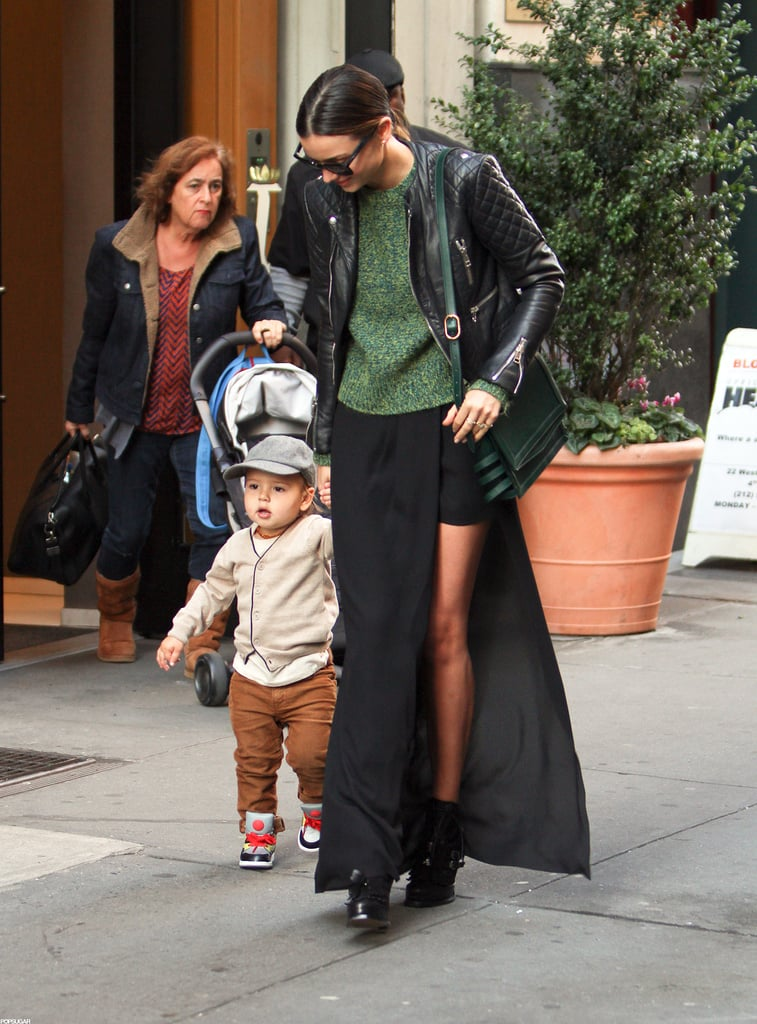Miranda Kerr stepped out with Flynn in NYC.