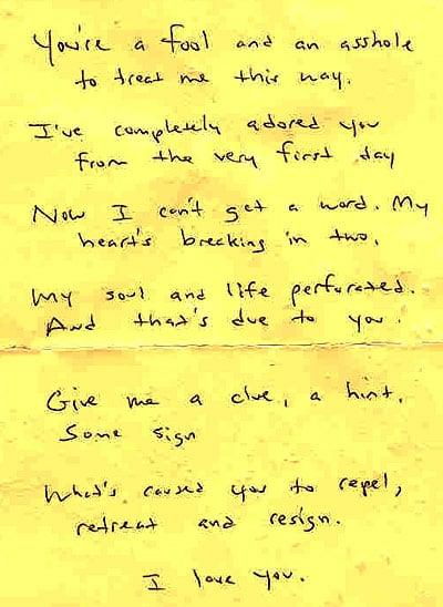 Awful Found Love Poem