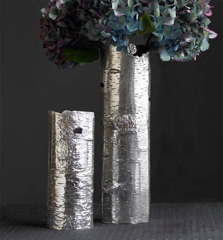 Steal Of The Day Recycled Aluminum Bark Vases Popsugar Home