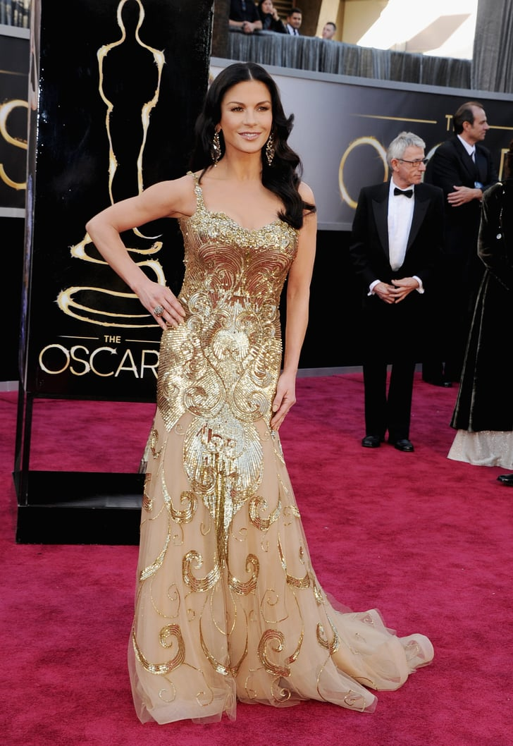 Catherine Zeta Jones On The Red Carpet At The Oscars 2013