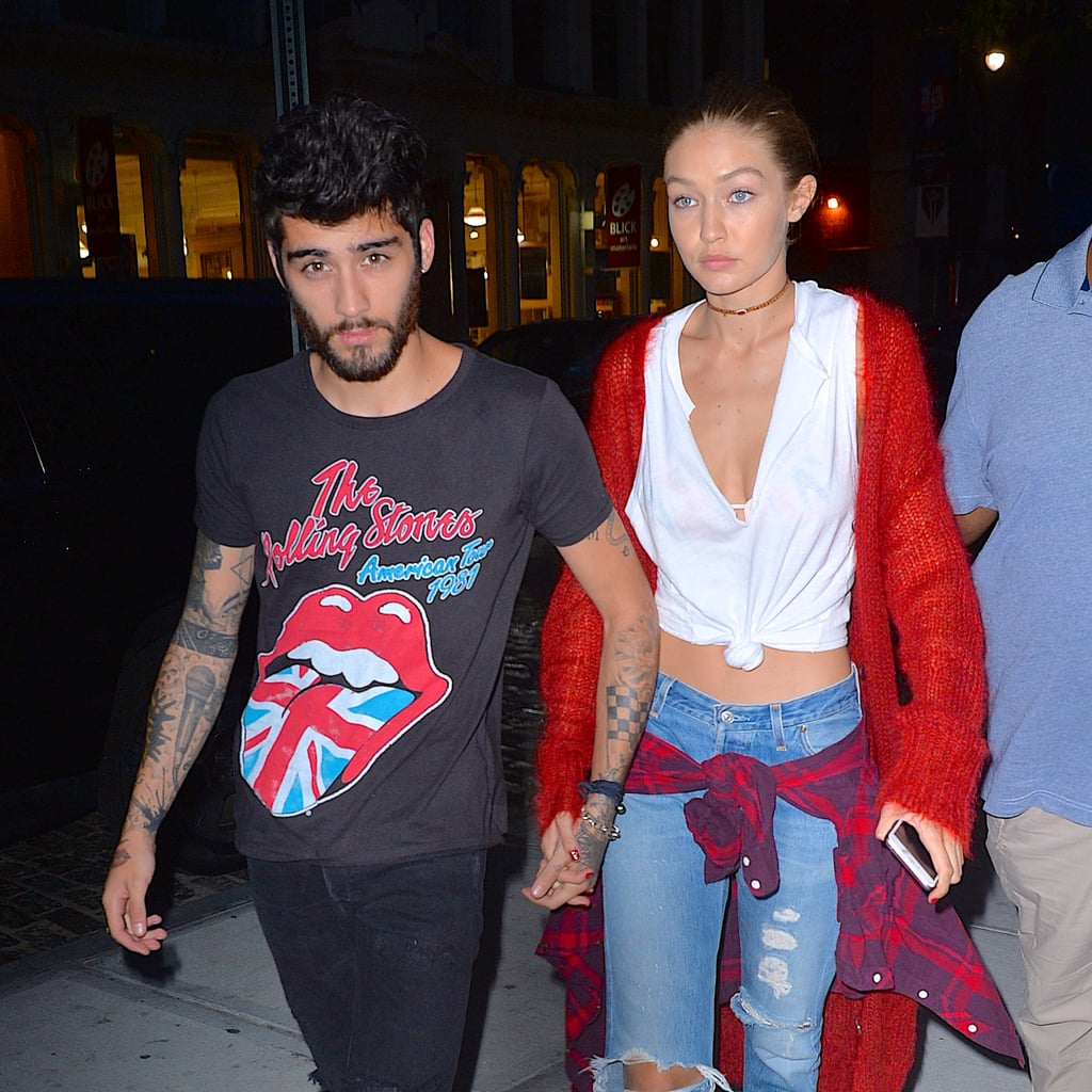 """After debuting her collection with Tommy Hilfiger at New York Fashion Week on Friday, Gigi Hadid hit the streets with Zayn Malik by her side. On Saturday, the couple held hands as they made their way through the busy sidewalks and past photographers, and Gigi showed off her bare midriff in a white crop top. Zayn's latest appearance comes just a few days after he cancelled his concert in Dubai due to anxiety. In a message posted to 117 Live, the singer wrote, """"Dear fans, I have been working over the last three months to overcome my extreme anxiety around major live solo performances I feel I am making progress but I have today acknowledged that I do not feel sufficiently confident to move forward with the planned show in Dubai in October . . . I am truly sorry to disappoint you. I hope to see you all soon."""" While Zayn hasn't been feeling his best lately, he did take to Twitter on Friday to wish his girlfriend luck on her show, sending her a note that read, """"@GiGiHadid Good luck tonight baby. You're about to show the world your amazing GxTH collection. I am so proud. You are an inspiration. X."""" So sweet! .@GiGiHadid Good luck tonight baby. You're about to show the world your amazing GxTH collection. I am so proud. You are an inspiration. X — zayn (@zaynmalik) September 9, 2016      Related:                                                                                                           Gigi Hadid and Zayn Malik Are One Ridiculously Good-Looking Couple"""