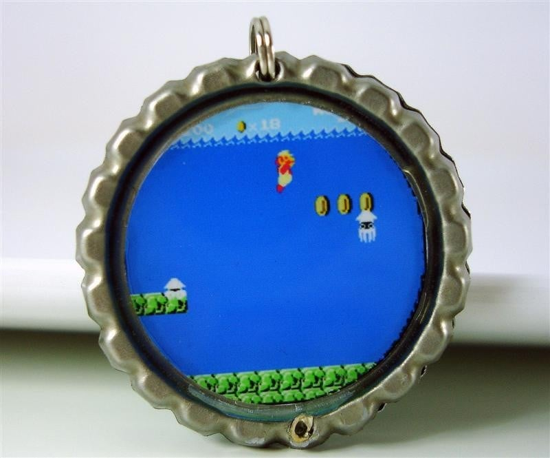 Reversible Super Mario Brothers Necklace