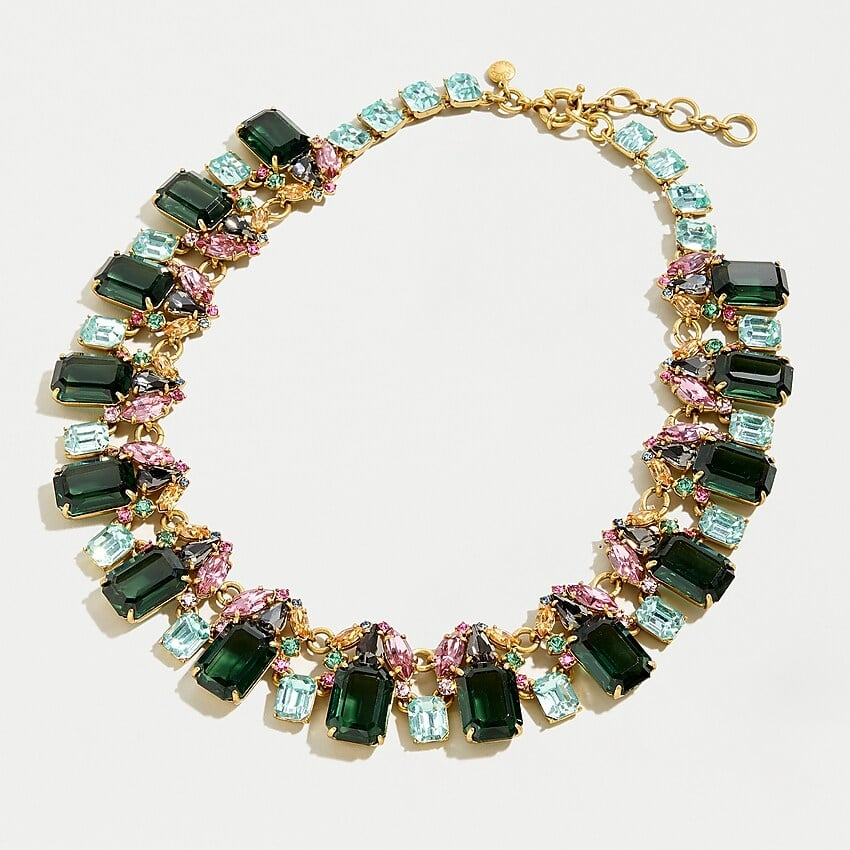 Tiana: Cluster Drop Stone Necklace