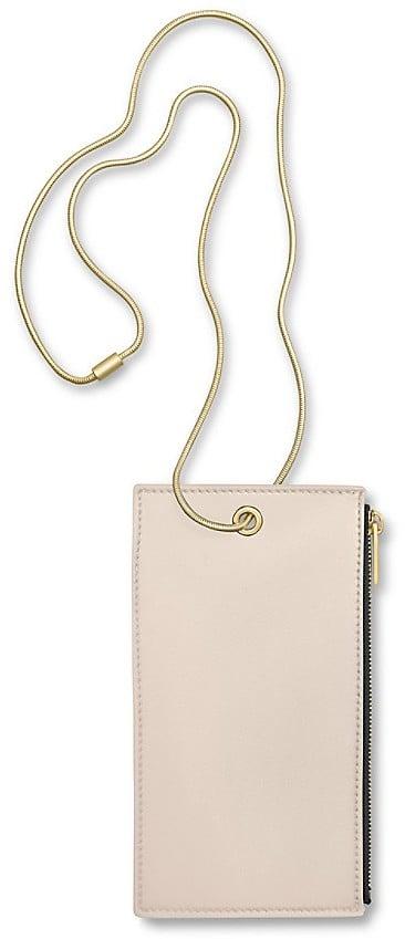 Calvin Klein Calf Smartphone Holder With Snake Chain ($425)