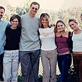 """Lori: """"Joint bday party for my daughters and these guys were on hand to celebrate. #tbt 2001. @cooler111 @bobsaget@andreabarber @jodiesweetin. #marykate #ashley."""""""