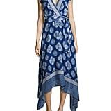 Shoshanna Catrina Asymmetric Print Wrap Dress