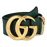 Gucci GG Marmont Lizard Buckle Leather Belt