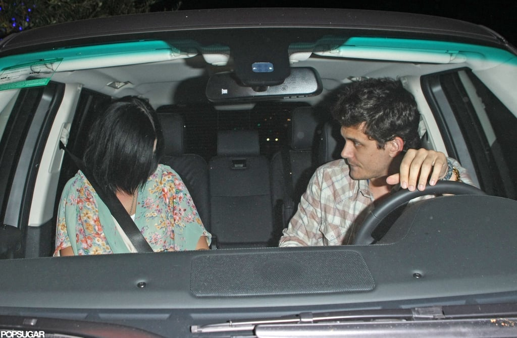 Katy Perry and John Mayer left a restaurant in LA together.
