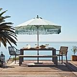 Aqua Replacement Umbrella Canopy With Fringe