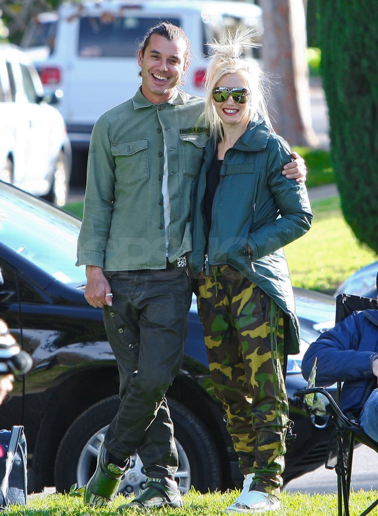 Gwen and Gavin wore matching green jackets.