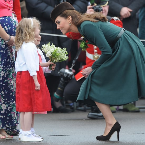 Pictures of Kate Middleton Crouching With Kids