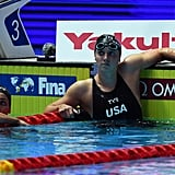 Katie Ledecky After Taking Second in the 400m