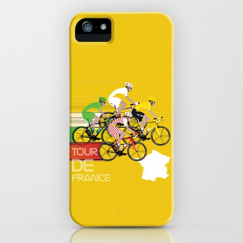 Feel like you're riding right alongside the pros with this yellow iPhone cover ($35).