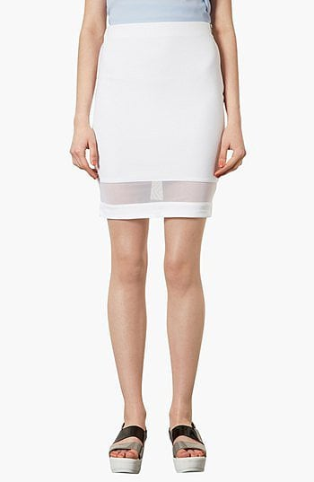 Topshop's Mesh Panel Pencil Skirt ($50) has an effortlessly sexy vibe that's just the thing for a hot night out.