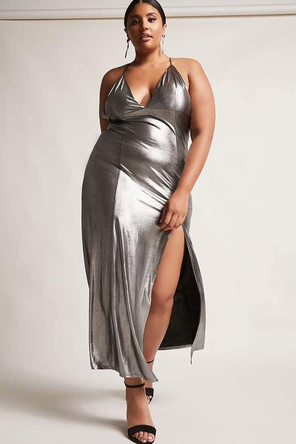 Forever 21 Metallic Maxi Dress