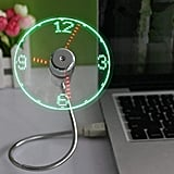 USB LED Clock Fan With Time Display