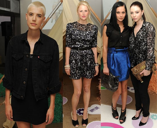 Pictures of Agyness Deyn in New York at Glastonbury Book Launch in NYC with Michelle Trachtenberg, Mamie Gummer, Leigh Lezark
