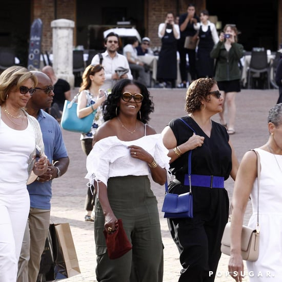 Michelle Obama Carrying Simon Miller Tote