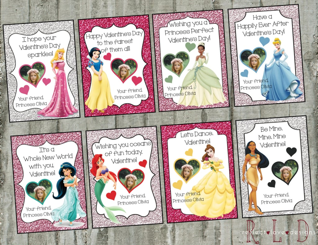 Disney Princesses Photo Valentines