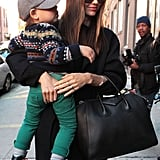 Miranda Kerr and her son, Flynn, ran errands in NYC.