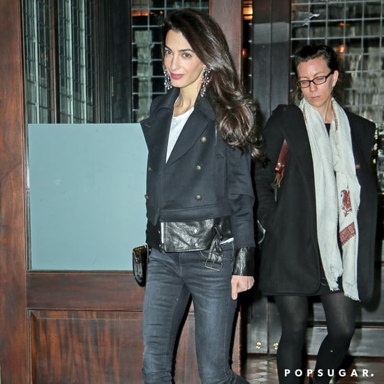 Amal Clooney Black Ankle Boots