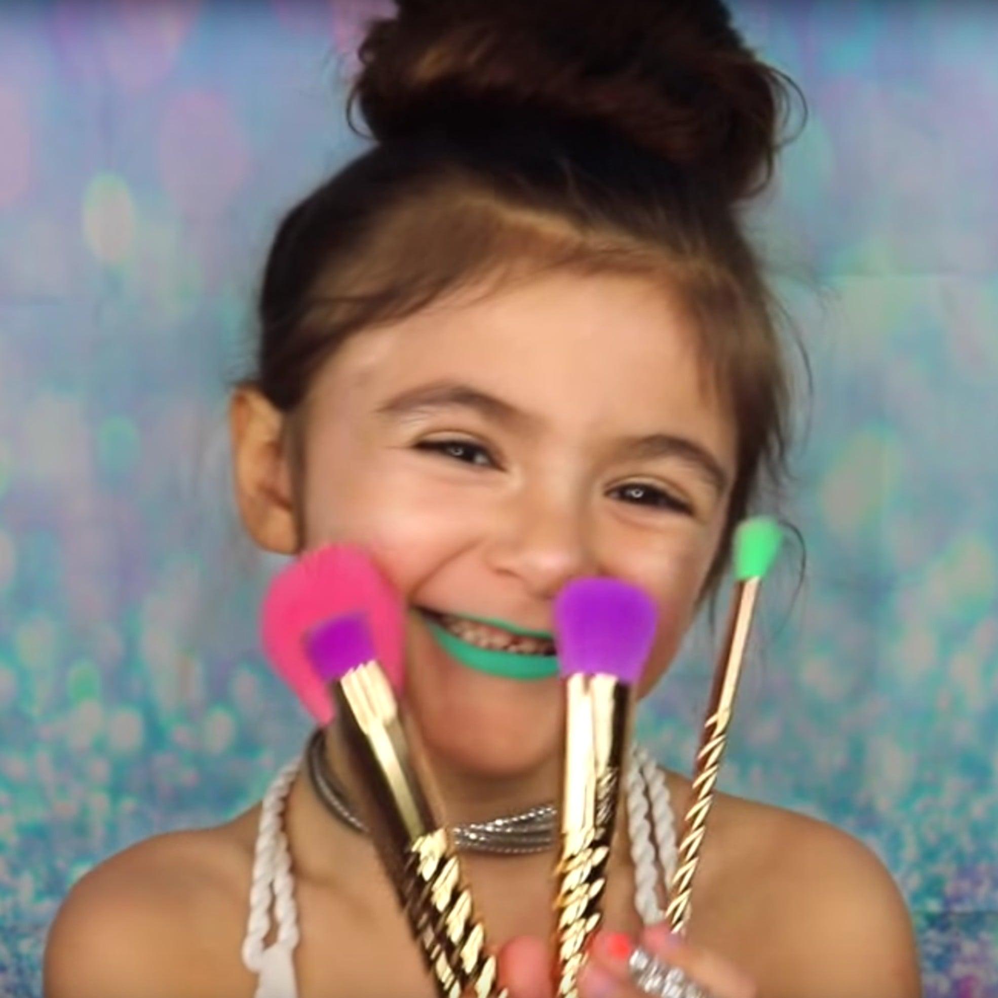 Little girls unicorn makeup tutorial popsugar beauty baditri Image collections