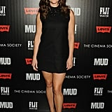 Reese Witherspoon stepped out post-arrest at the NYC premiere of Mud in a leg-baring LBD by Saint Laurent. While the minidress featured an embellished neckline, she kept everything else simple, pairing the look with black pumps and a Saint Laurent clutch.