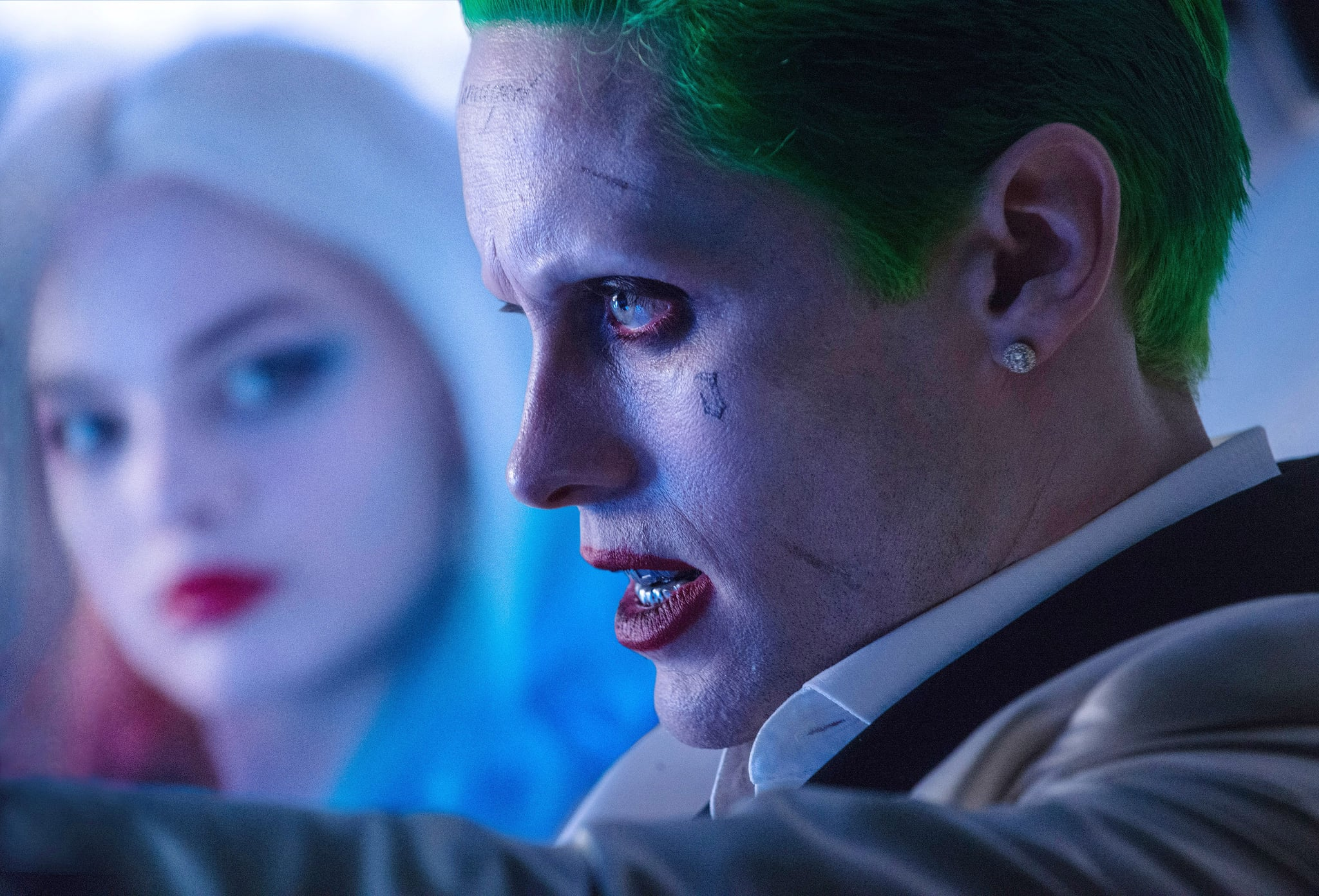 SUICIDE SQUAD, from left: Margot Robbie, Jared Leto, 2016. ph: Clay Enos /  Warner Bros. /Courtesy Everett Collection