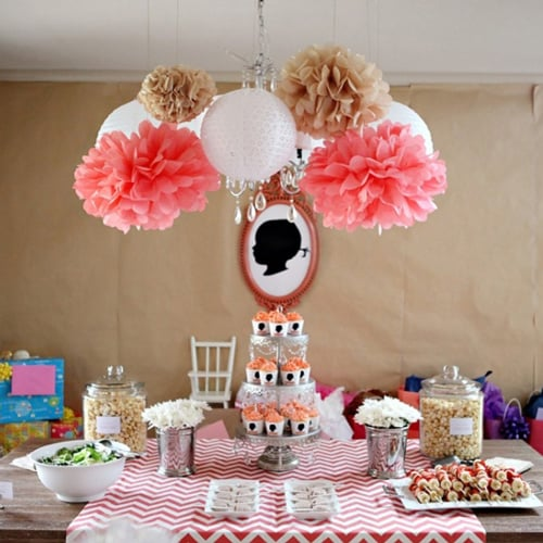 Chevron Silhouette Birthday Party