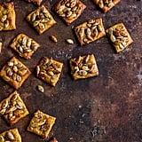 Make-Ahead Appetizer: Rosemary Cheddar Gorgonzola Pumpkin Seed Crackers