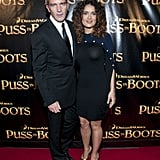 Salma Hayek and Antonio Banderas at the premiere of Puss in Boots in SF.