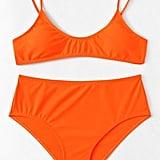 Shein Plus Plain Bikini Set
