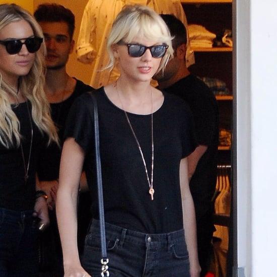 Taylor Swift's Denim Shorts April 2016